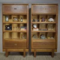 1950s Office Storage Cabinets x8